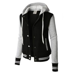 ZOGAA Spring Fashion Women's Color Block Hoodies Hooded Long-sleeved Outwear Sweatshirt Baseball Hooded jacket Y200706