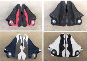 2019 13s Gatti neri del bambino scarpe da ginnastica allevati Flint Bambini di pallacanestro pattini infantili 13 ragazzone Ragazza Bambino Formatori