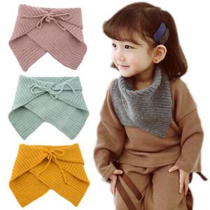 New Autumn Winter Baby Kids Knitted Neck Warmer Children Crochet Wool Scarf Boy Girl Warm Shawl Neck Scarf Triangle Scarf 15081