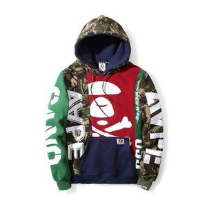 bape AAPE nueva calle con capucha para hombre del diseñador de moda suéter tendencia AP de lujo de alta calidad de otoño invierno de manga larga, además de terciopelo