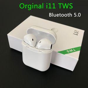 새로운 I11 TWS 블루투스 아이폰 삼성 S6 S8 샤오 미 화웨이 LG 차 이어폰 마이크와 5.0 무선 이어폰 이어폰 미니 이어폰