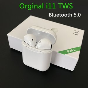 I11 الجديد TWS بلوتوث 5.0 لاسلكية سماعات الاذان صغيرة سماعات الأذن مع هيئة التصنيع العسكري للحصول على سامسونج S6 S8 XIAOMI هواوي LG سيارة سماعات