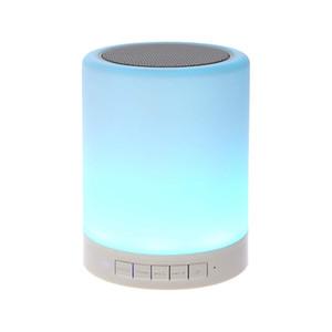 Nachtlicht mit bluetooth lautsprecher tragbare drahtlose bluetooth lautsprecher touch control farbe led nachttischlampe