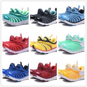 Com a Caixa Marca Crianças Lagartas Sapatos de Corrida Verde Meninos azul Sneakers Meninas amarelo Sapatos de caminhada Crianças formadores vermelho juventude UE Tamanho 22-35