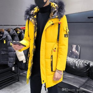 2019 new fashion men's cotton pad casual thick luxury jacket designer winter jacket coat outdoor warm windproof solid mens winter coat