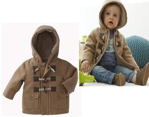 Bébés garçons Vêtements Veste d'hiver 2015 New 2 Couleur vêtement épais manteau pour enfants Vêtements Vêtements pour enfants avec capuche chaud détail