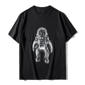 Hommes célèbres T-shirt Astronaute d'été Imprimer Casual coton à manches courtes Chemises Hommes Femmes T-shirts T-shirts