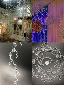 Новый Праздничный 100 см Кристалл Капли Воды Бисера Филиал Строка Акриловые Бусины + Алюминиевый Провод Свадьба