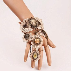 Frete grátis 10pcs Mixed moda feminina de dança do punk crânio Jóias Designer de jóias de luxo da cadeia pulseira Lace Lolita S54