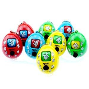 A forma di uovo Finger-guessing Game Toys Creativo Mora Giochi Keychain Rock Paper Scissors Ciondolo catena chiave Bambini giocattolo promozione delle vendite Regali