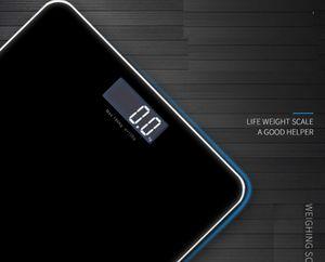 Ванная комната Этаж Digital Body Scale закаленное стекло Поверхностные электронные весы Светодиодный дисплей Держите Fit Body Взвешивание весах