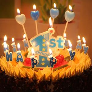 Las velas de cumpleaños 1ª moldeado 1r diseño del primer cumpleaños del bebé Vela Ambiental Infantil Digital vela del regalo del bebé de los niños