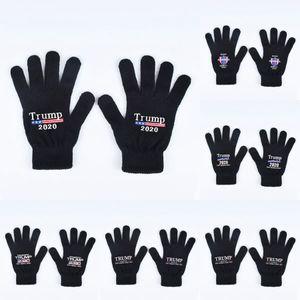 Trump 2020 Gloves Keep America Great Letter Printed Five Finger Gloves Outdoor Sports Winter Warm Mittens 2pcs pair LJJO7505