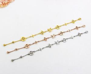 ZHF Jóias Charm Bracelet Rose Gold Para Mulheres e Homens Nunca Desaparecer 15 + 5 cm Pulseira Cadeia de tamanho Ajustável
