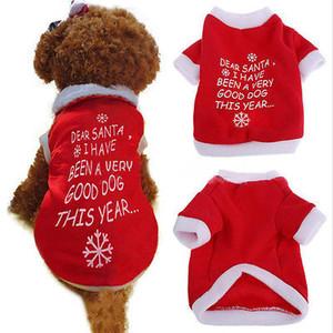 جميل الحيوانات الأليفة القماش لطيف سترة الكلب حلي سترات واقية الكلب هوديس جرو كلب الملابس الحيوانات الأليفة عيد الميلاد تي شيرت الكلمات طباعة البلوز