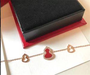 Vintage Jewelry Bracelet 925 sterling silver material full diamond gourd bracelet women bracelet Free Shipping