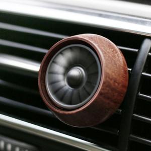 Mini Car Air Freshener Auto Air saída de ventilação Fragrance Freshener de madeira Perfume Shell Car Styling fresco Fan Aroma Difusor