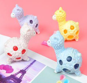 Kreative Dekompression Neuheit TPR Alpaka Hand Squeeze Squeeze Entlüftungs Spielzeug umweltfreundliche Material nette langsame Erholung