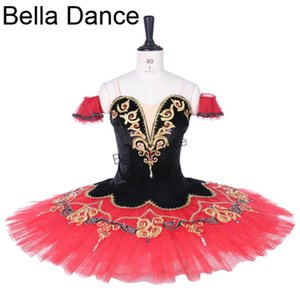 Espanhol competiton YAGP profissional ballet trajes de balé desempenho adulto paquita tutu vestir BT9292