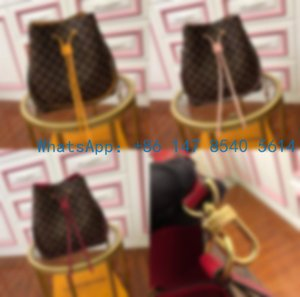 N40214 Top The new 2020 fashion Joker bucket bag with checked leather trend fashion one-shoulder cross-body bag