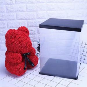 Box-Rosen-Herz-Bär PE Geschenk-Box für Everlasting Foam Blumen-Bär / Kaninchen / Hund