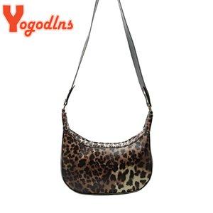 Yogodlns леопардовых сумок на ремень для женщин Моды подмышек сумка Корова Pattern Багет Женской Сумочка Дизайн Lady Тотализаторы