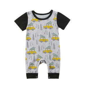Nouveau-né Enfant Bébé Garçon Fille Vêtements Noël Romper Jumpsuit manches courtes en coton Tenues Set Vêtements bébé garçons 0-24M S200107