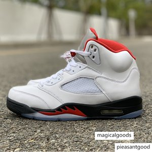 2020 New OG 5s 3M Fire Red Mens Basketball Shoes Outdoor Sports Trainer High Quality Sneakers Size 40-47
