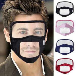 Escudo facial nueva máscara de algodón puro Visual máscara de la mascarilla para adultos transparentes Mascarillas de protección de algodón transpirable Riding Máscaras EEA1789