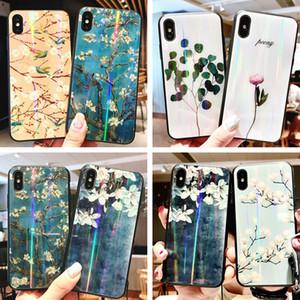 Chinesische Blume Laser Phone Cases für Iphone X XS Glass Case für Iphone 6 6S 7 8 Plus