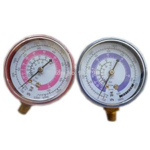 Freeshipping Pair Air Conditioner R410A R134A R22 Refrigerante LowHigh Pressure Gauge PSI KPA A / C Refrigeration Pressure Gauge Medidor de refrigerante