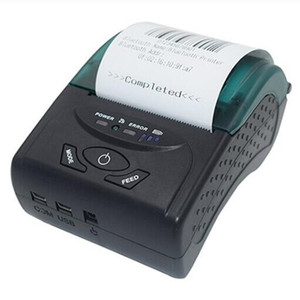 1pcs 58mm Thermal Label Ticket Portable Printer Bluetooth 4.0 Support Android and iOS Windows Phone Tablet Office Shop EU US UK