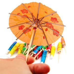Papier enfants bricolage forme de gâteau Médiator parapluie cocktail Parasols boissons Picks Anniversaire / Mariage Décoration Faveurs de mariage
