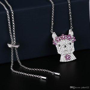 cadeau de Noël collier élégant pour les femmes colliers de cristal bijoux avec pleine brillant Cubiz Zircon chaîne féminine