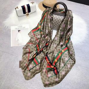 Diseñador de moda bufanda de seda de la venta caliente de las mujeres de lujo del resorte del tamaño de invierno mantón bufanda de marca bufandas sobre 180x70cm