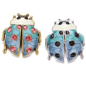 نوسا ليديبيرد Rhinestone Snap Button Findings For 18m Snap Button Sweet Rains Insect Jewells