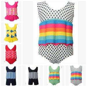 Bebé traje de baño de los niños INS Diseñador flotante trajes de baño ropa de playa niñas flotabilidad desmontable siameses entrenamiento de natación trajes de baño de flotación C288