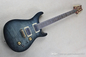 Top Qualität Big Hand gemacht Birds Inlay Griffbrett Festkörper PRS 408 Anthrazit E-Gitarre