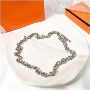 Letra H colares pingentes de prata gótico Casal inicial colar colar Largo Colier Femme Bijoux Femme Joyas Designer de Luxo Jóias Mulheres
