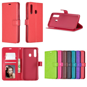 PU leather Flip Wallet Phone Case For Samsung Galaxy A8S A9S A9 Pro A6 A7 A8 Plus 2018 TPU in inner Cover