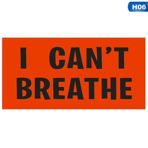 I can't Breathe Sticker Self-Adhesive Sticker Creative PVC Car Sticker Suitable For Clothes Cars Laptops Wall Decorative Stickers GGA3451-8