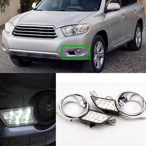 LED éclairage diurne, de Retrofit voiture brouillard LED voiture couleur lumière blanche kit DRL Pour Toyota Highlander 2009-2011