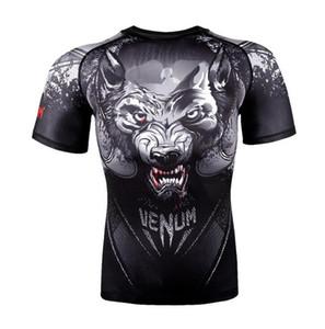 MMA Sport UFC M1 MenT-Shirt - Muay Thai-Boxen JUJITSU ABSOLUTE RASHGUARD Venum Nachtkriecher MMA kurze Hülsen-Wolf Männer T-Shirt t Bekämpfen