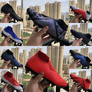 EA Sports SG DF Phantom VSN Vision Elite ToClot Fly Soccer Chaussures Mens Triple Chargée Triple Noir Lux Tricot Tarcles de chaussettes imperméables