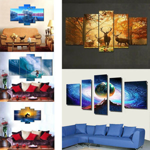 5 панели HD картинки космос звезды Главная стены декор живопись холст масло paingting новый