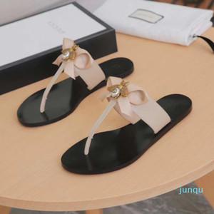 Flip Marque-flops Slipper présage mode de luxe véritable sandales slides en cuir métal chaîne dames chaussures de sport SZ 36-42 n07