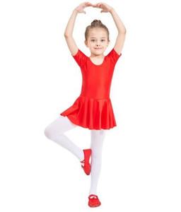 Adulte Enfant à manches courtes avec encolure dégagée Ballet Robe Gymnastic Leotard Lycra Tutu Dress