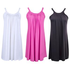 Yeni Kadın Yaz Casual Kolsuz Parti Kısa Mini Elbise Beachwear Sundress