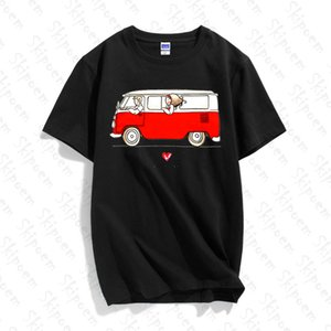 NBulli Bus California T Shirt Women Kawaii Aesthetic Tumblr Harajuku Plus Size Short Sleeve Cotton Tee Shirt Femme Streetwear
