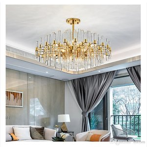 Postmodern Nordic Simple Light Luxury Restaurant Living Room Light Villa Creative Crystal Chandelier